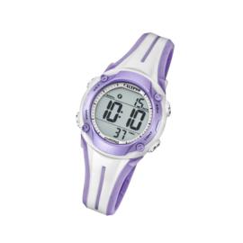 Calypso K5682/7 digitaal tiener horloge 35 mm 100 meter roze/ paars