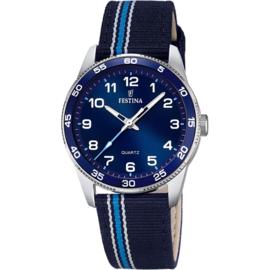 Festina F16906/2 tiener horloge 34 mm 50 meter blauw