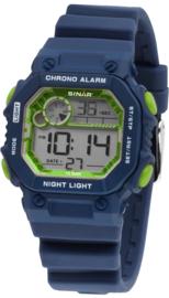 Sinar XE-55-2 digitaal tiener horloge 35 mm 100 meter blauw/ groen