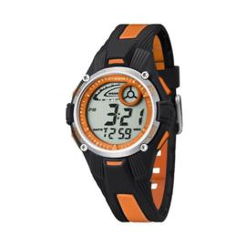 Calypso K5558/4 digitaal tiener horloge 36 mm 100 meter zwart/ oranje