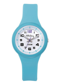 Tekday 653985 analoog horloge 32 mm 100 meter blauw/ wit