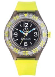 Q&Q 651027 Smile Solar tiener horloge 43 mm 200 meter groen/ zwart