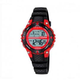 Calypso K5684/6 digitaal tiener horloge 37 mm 100 meter zwart/ rood