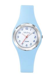 Tekday 654744 analoog tienerhorloge 32 mm 100 meter blauw/ zilverkleurig