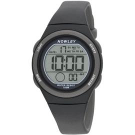 Nowley 8-6303-0-4 digitaal tiener horloge 34 mm 100 meter zwart/ grijs