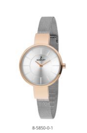 Nowley 8-5850-0-1 analoog tiener horloge 32 mm 30 meter zilverkleurig/ rosé