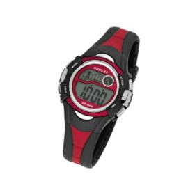Nowley 8-6145-0-1 digitaal tiener horloge 36 mm 100 meter zwart/ rood