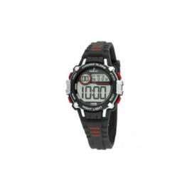 Nowley 8-6294-0-1 digitaal horloge 35 mm 100 meter zwart/ rood