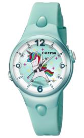 Calypso K5784/5 analoog unicorn horloge 34 mm 100 meter turquoise