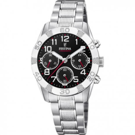 Festina F20345/3 chronograaf horloge 36 mm 50 meter zwart