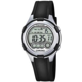 Calypso K5692/2 digitaal tiener horloge 38 mm 100 meter zwart/ grijs