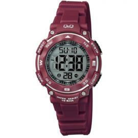 Q&Q M149J008 digitaal tiener horloge 36 mm 100 meter rood