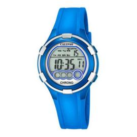 Calypso K5692/4 digitaal tiener horloge 38 mm 100 meter blauw/ grijs