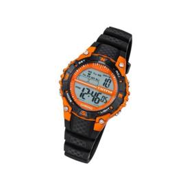 Calypso K5684/7 digitaal tiener horloge 37 mm 100 meter zwart/ oranje