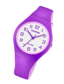Calypso K5777/7 analoog tiener horloge 34 mm 100 meter paars/ lila