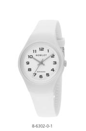 Nowley 8-6302-0-1 analoog tiener horloge 34 mm 100 meter wit