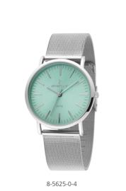 Nowley 8-5625-0-4 analoog tiener horloge 36 mm 30 meter zilverkleurig/ groen