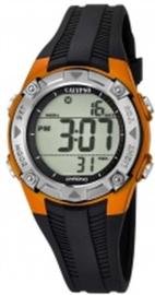 Calypso K5685/7 digitaal tiener horloge 37 mm 100 meter zwart/ oranje