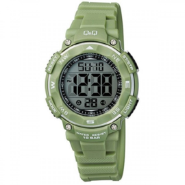 Q&Q M149J011 digitaal tiener horloge 36 mm 100 meter groen