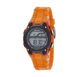 Marea B44097/4 digitaal tiener horloge 36 mm 50 meter oranje/ zwart