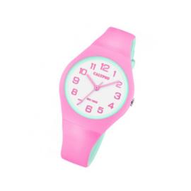 Calypso K5777/6 analoog tiener horloge 34 mm 100 meter roze/ mint