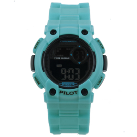 Coolwatch CW.275 digitaal tiener horloge 35 mm 100 meter blauw