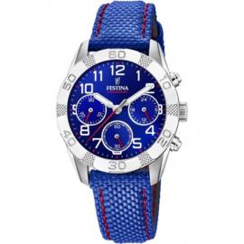 Festina F20346/2 chronograaf horloge 36 mm 50 meter blauw