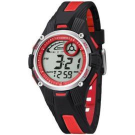Calypso K5558/5 digitaal tiener horloge 36 mm 100 meter zwart/ rood