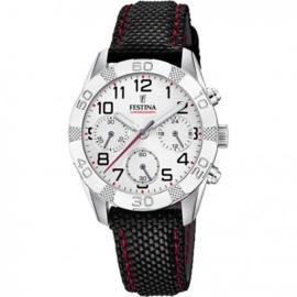 Festina F20346/1 chronograaf horloge 36 mm 50 meter wit