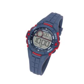 Nowley 8-6285-0-2 digitaal tiener horloge 39 mm 100 meter blauw/ rood