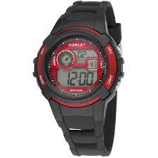 Nowley 8-6236-0-3 digitaal tiener horloge 40 mm 100 meter zwart/ rood