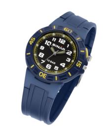 Sinar XB-20-2 analoog tiener horloge 38 mm 100 meter blauw/ geel