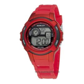 Nowley 8-6236-0-1 digitaal tiener horloge 40 mm 100 meter rood/ zwart
