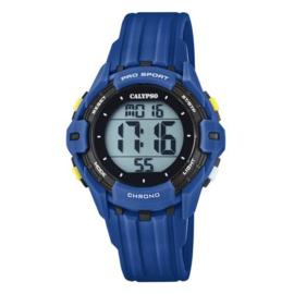Calypso K5740/4 digitaal tiener horloge 38 mm 100 meter blauw/ zwart