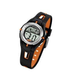 Calypso K5506/2 digitaal tiener horloge 34 mm 100 meter zwart/ oranje