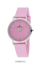 Nowley 8-5843-0-2 analoog tiener horloge 34 mm 30 meter roze