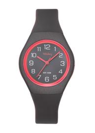 Tekday 654144 analoog tiener horloge 34 mm 100 meter grijs/ roze