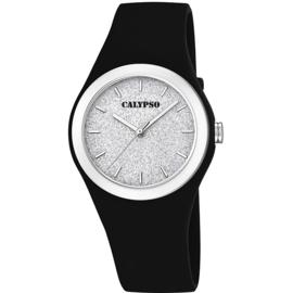 Calypso K5754/6 analoog tiener horloge 34 mm 50 meter zwart