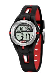Calypso K5506/1 digitaal tiener horloge 34 mm 100 meter zwart/ rood