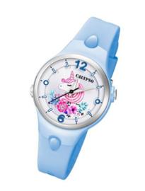 Calypso K5783/5 analoog unicorn horloge 34 mm 100 meter blauw
