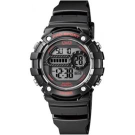 Q&Q M154J001 digitaal tiener horloge 40 mm 100 meter zwart