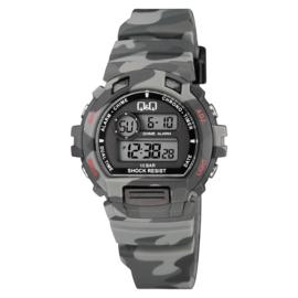 Q&Q M153J009 digitaal tiener horloge 40 mm 100 meter grijs/zwart