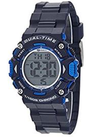 Marea B40190/3 digitaal tiener horloge 40 mm 100 meter blauw