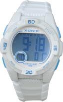 Xonix KQ-001 digitaal tiener horloge 40 mm 100 meter wit/ blauw