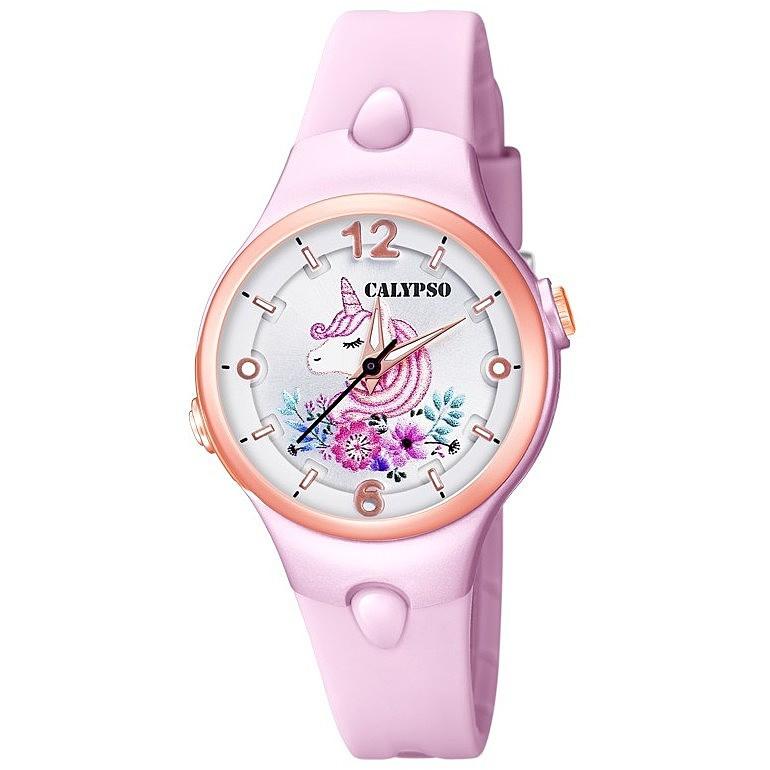 Calypso K5783/2 analoog unicorn horloge 34 mm 100 meter roze/ rosé