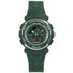 Coolwatch CW.273 analoog/ digitaal tiener horloge 36 mm 50 meter groen/ zilverkleur