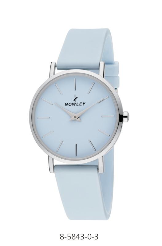 Nowley 8-5843-0-3 analoog tiener horloge 34 mm 30 meter licht blauw