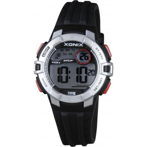 Xonix IM-007 digitaal tiener horloge 34 mm 100 meter zwart/ zilverkleurig