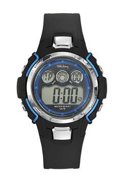 Tekday 653836 digitaal tiener horloge 39 mm 50 meter zwart/ blauw