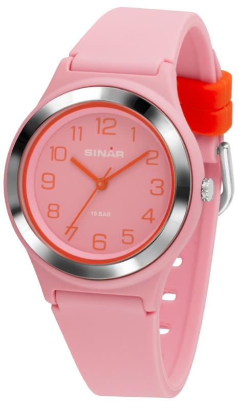 Sinar XB-48-9 analoog tiener horloge 36 mm 100 meter roze